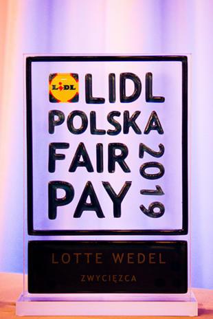 Równe traktowanie oraz transparentność są dla nas priorytetem i cieszymy się, że zostało to docenione również na forum ogólnopolskim przez jury nagrody LIDL Fair Pay.