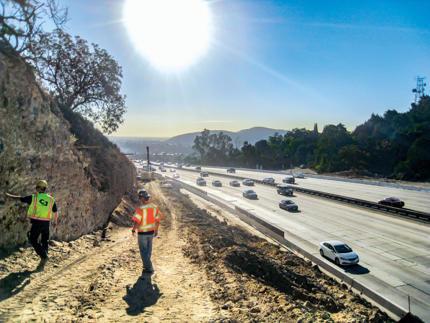Autostrada Interstate 10, Pomona, LA, Kalifornia, USA