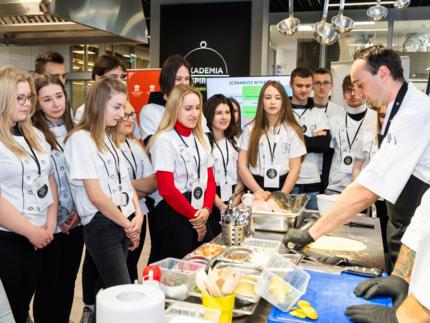 Mikser kulinarny spotkanie w ramach programu Szef dla Młodych Talentów.