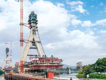 Most wantowy przez Nil, Jinja, Uganda
