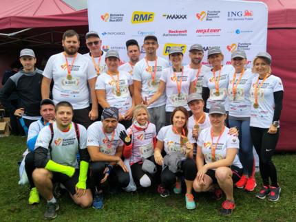 Uczestnicy katowickiego Poland Business Run (biegło nas dużo więcej)