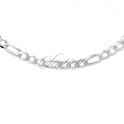 Łańcuszek męski diamentowany figaro płaskie pr. 925 ø 0150