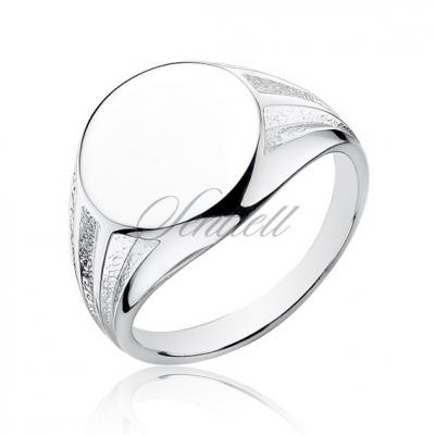 Srebrny sygnet pr.925 okrągły