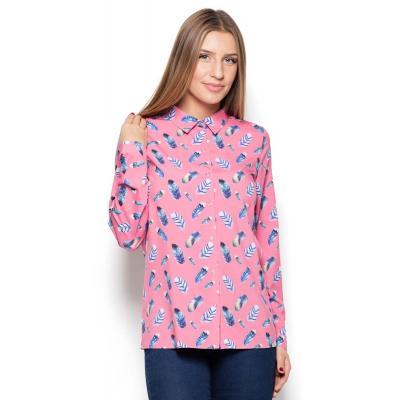 Koszula ze wzorem kolorowych piór wzór 51