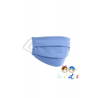Wielorazowa maseczka dziecięca - niebieska