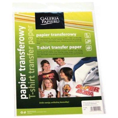 Papier termotransferowy GALERIA PAPIERU Do jasnych tkanin