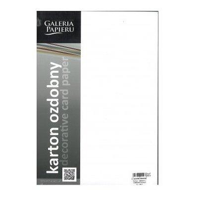 Karton ozdobny GALERIA PAPIERU Millenium 220g/m2 20szt. Biały
