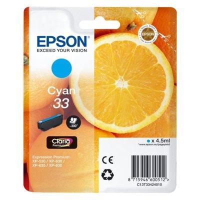 Wkład atramentowy EPSON 33 Cyjan