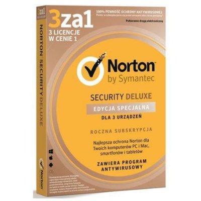 Program Norton Security Deluxe 3.0 PL (3 stanowiska, 1 rok)