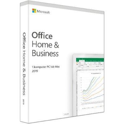 Program Microsoft Office Home and Business 2019 PL Box Win/Mac 32/64bit