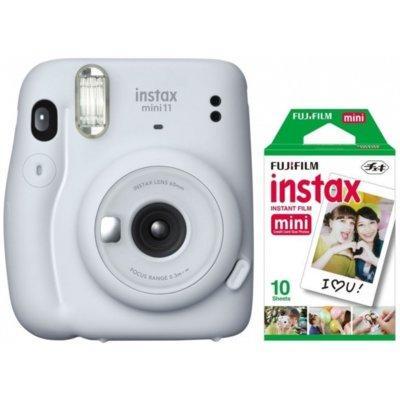Aparat FUJIFILM Instax mini 11 Ice White Biały + 10 wkładów Instax mini