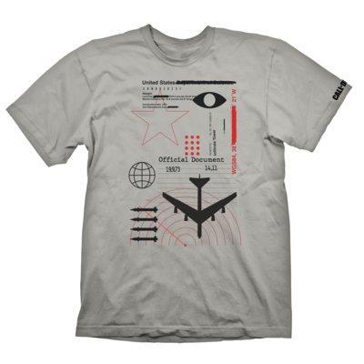 Koszulka KOCH MEDIA Call of Duty: Cold War T-Shirt Radar Light Grey - rozmiar M