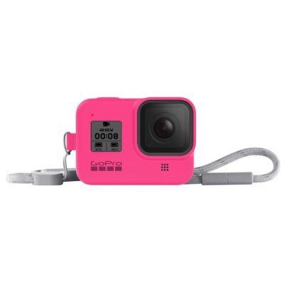 Produkt z outletu: Etui + smycz GOPRO HERO8 Black Różowy AJSST-007