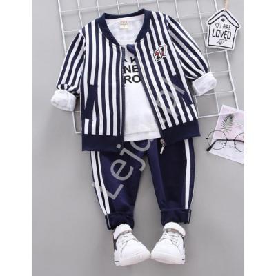 3 częściowy komplet dresowy dziecięcy, bluza, bluzka i spodnie 1044