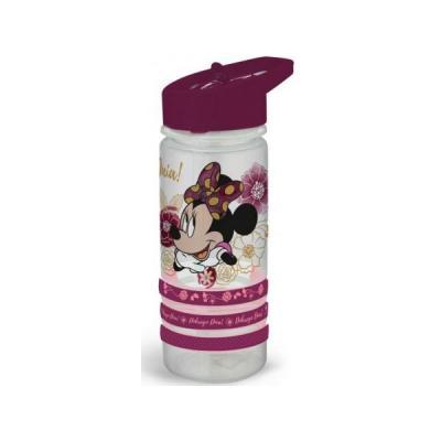 DISNEY Bidon Minnie Flowers White z opaskami 470 ml 35256