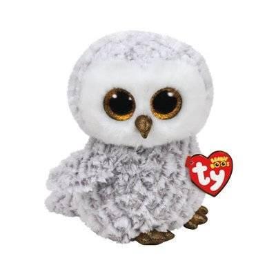 Maskotka TY INC Beanie Boos Owlette Biała sowa średnia 24cm 37086
