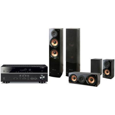 Kino domowe YAMAHA MusicCast RX-V485 + Pure Acoustics NOVA 6 Czarny