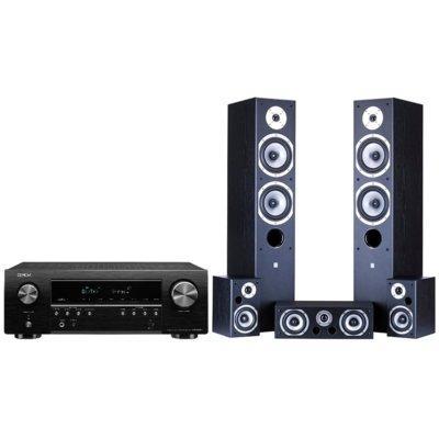 Kino domowe DENON AVR-S650H + Wilson Movix 5.0 Czarny