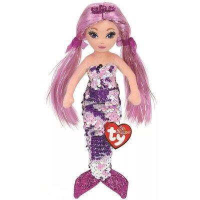 Lalka TY INC Mermaids Lorelei Fioletowa syrenka 45cm 02301