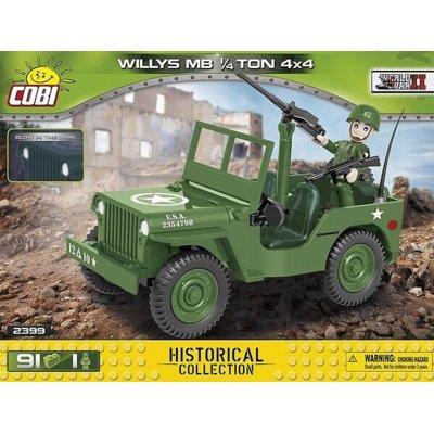 Klocki COBI Historical Collection: World War II - WWII Jeep Willys MB 1/4 Ton 4x4 2399