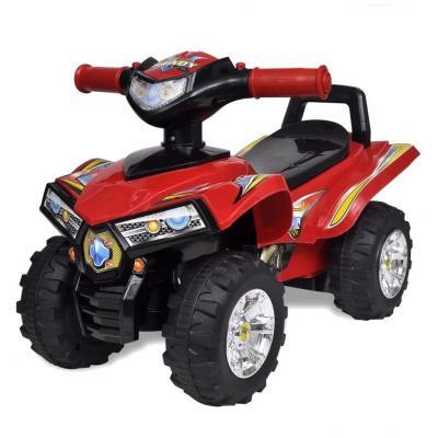 Emaga czerwony quad jeździk dla dzieci, ze światłem i dźwiękiem