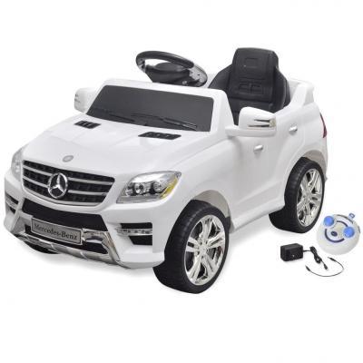 Emaga samochód elektryczny biały mercedes benz ml350 6 v z pilotem