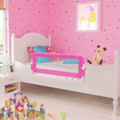 Emaga vidaxl barierka ochronna do łóżka, 102 x 42 cm, różowa