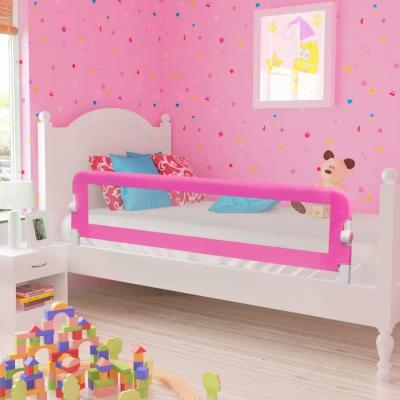 Emaga vidaxl barierka ochronna do łóżka, 150 x 42 cm, różowa