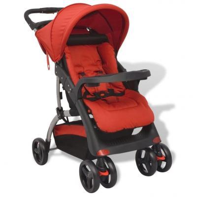 Emaga vidaxl czerwony wózek spacerowy, 102x52x100 cm