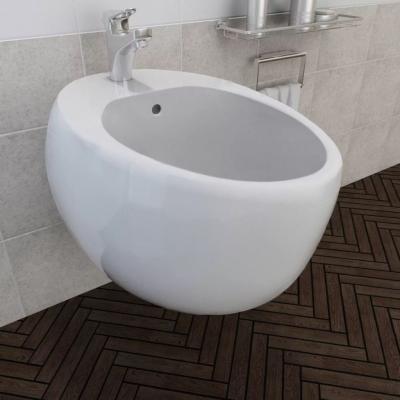 Emaga vidaxl bidet ścienny, biały, ceramiczny