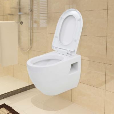 Emaga vidaxl toaleta wisząca, ceramiczna, biała