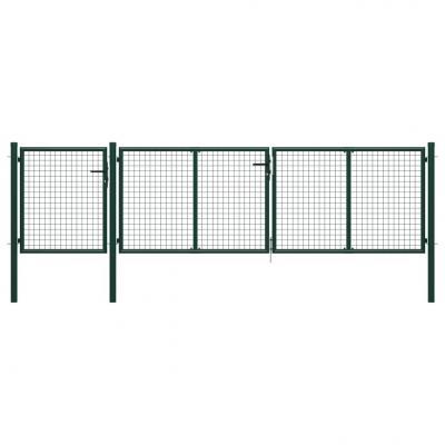 Emaga vidaxl brama ogrodzeniowa, stalowa, 400 x 100 cm, zielona