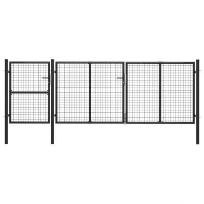Emaga vidaxl brama ogrodzeniowa, stalowa, 400 x 125 cm, antracytowa