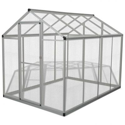 Emaga vidaxl ptaszarnia z aluminium, 178 x 242 x 192 cm