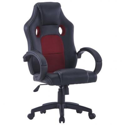 Emaga vidaxl fotel dla gracza, czerwone wino, sztuczna skóra