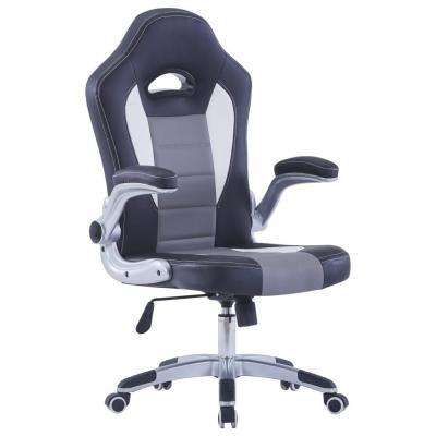 Emaga vidaxl fotel dla gracza, czarny, sztuczna skóra