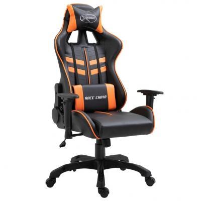 Emaga vidaxl fotel dla gracza, pomarańczowy, sztuczna skóra