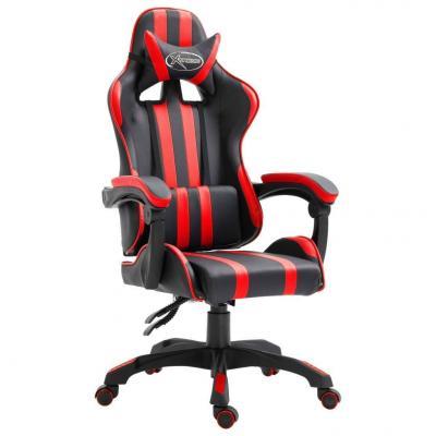 Emaga vidaxl fotel dla gracza, czerwony, sztuczna skóra