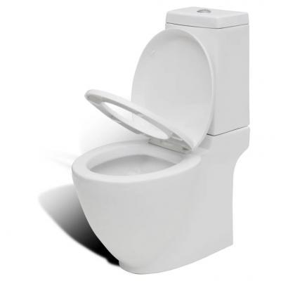 Emaga vidaxl toaleta ceramiczna, odpływ poziomy, biała