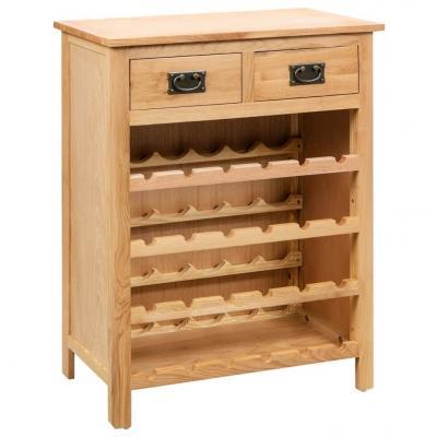 Emaga vidaxl szafka na wino, 72 x 32 x 90 cm, lite drewno dębowe