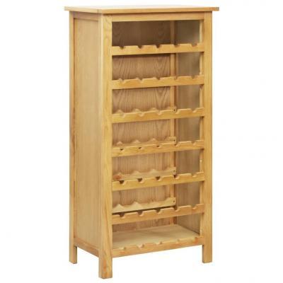 Emaga vidaxl szafka na wino, 56 x 32 x 110 cm, lite drewno dębowe