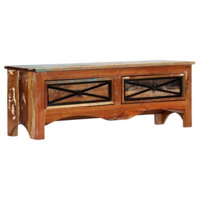 Emaga vidaxl szafka pod tv, 120 x 30 x 40 cm, lite drewno odzyskane