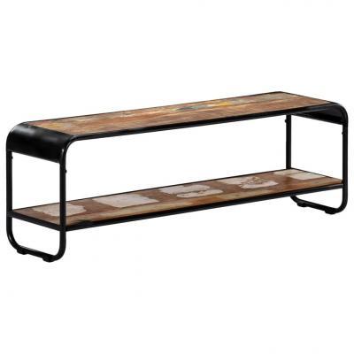 Emaga vidaxl szafka pod tv, 120x30x40 cm, lite drewno odzyskane