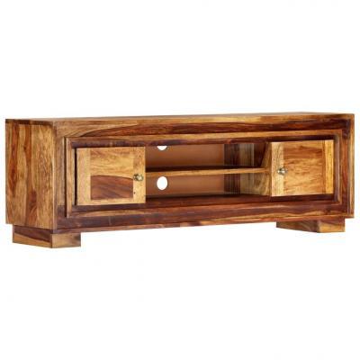 Emaga vidaxl szafka pod tv, 118x30x40 cm, lite drewno sheesham