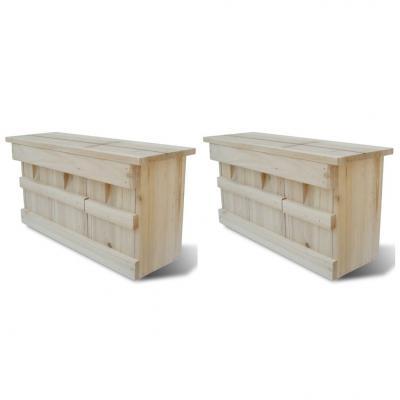 Emaga vidaxl domki dla wróbli, 2 szt., drewniane, 44 x 15,5 x 21,5 cm