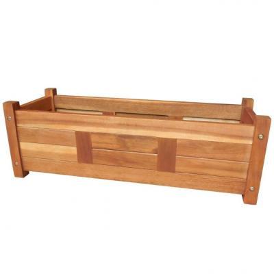 Emaga vidaxl podwyższona donica ogrodowa, drewno akacjowe, 76x27,6x25 cm