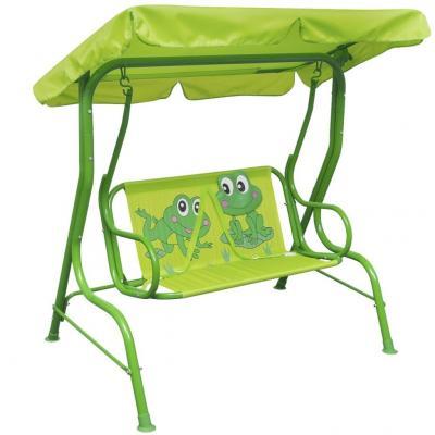 Emaga vidaxl huśtawka dla dzieci, zielona