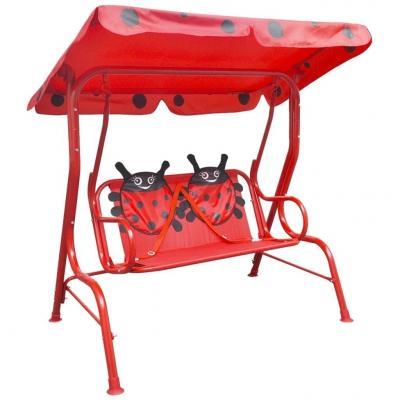 Emaga vidaxl huśtawka dla dzieci, czerwona
