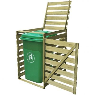 Emaga vidaxl osłona na kosz na śmieci, 240 l, impregnowane drewno