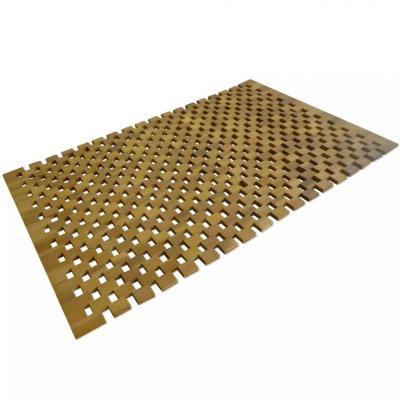 Emaga vidaxl mata łazienkowa, drewno akacjowe, 80x50 cm, mozaika